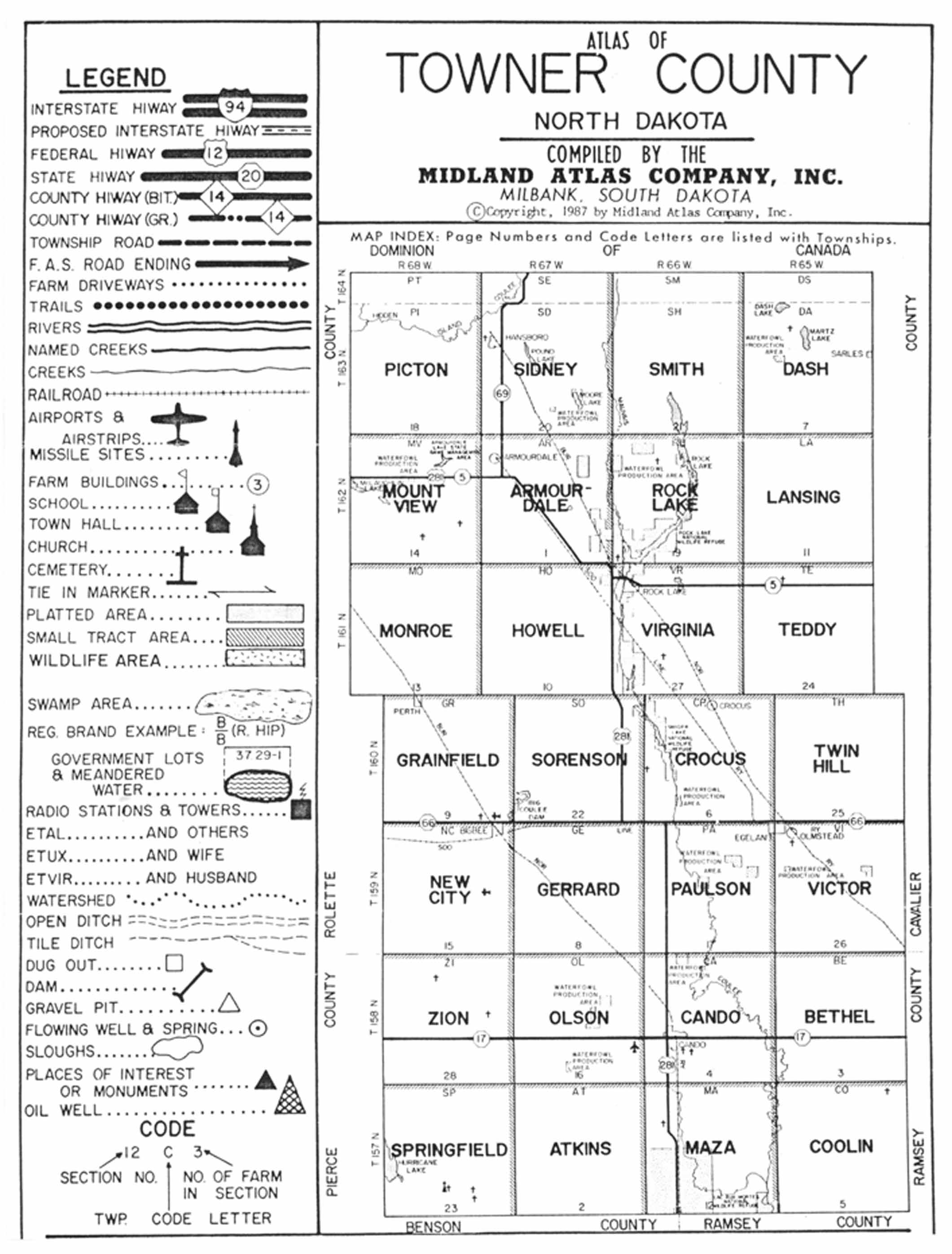 Towner County North Dakota Land Records - Nd land ownership map